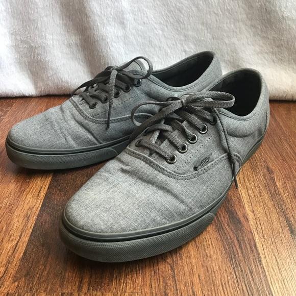 42cc8a286e6af8 Vans Atwood Rock Gray Textile Low Top Skate Shoes.  M 5b899bc3153795d702a3d4bf